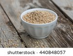 sesam seeds in a little bowl on ... | Shutterstock . vector #440848057