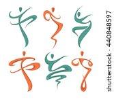 abstract dancing people... | Shutterstock .eps vector #440848597