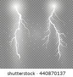 set of lightnings. thunder... | Shutterstock .eps vector #440870137