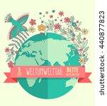 world environment day concept... | Shutterstock . vector #440877823