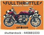 vintage cafe racer motorcycle... | Shutterstock .eps vector #440881033