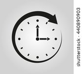 time icon. watch symbol. ui....