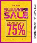 stylish summer sale flyer ... | Shutterstock .eps vector #440892163