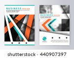 layout design template  annual... | Shutterstock .eps vector #440907397