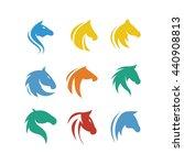 horse head animal vector icon...   Shutterstock .eps vector #440908813
