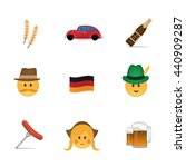 set of german emoticon vector...   Shutterstock .eps vector #440909287