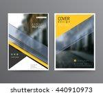 business template for brochure  ... | Shutterstock .eps vector #440910973