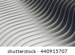 chrome wave stripes background. ... | Shutterstock . vector #440915707
