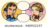 vintage couple man and woman... | Shutterstock .eps vector #440922157
