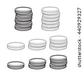 stack of coins | Shutterstock .eps vector #440929327