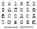 line icons set with flat design ... | Shutterstock . vector #440930797
