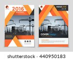 orange under construction... | Shutterstock .eps vector #440950183