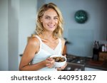 portrait of young smiling woman ...   Shutterstock . vector #440951827