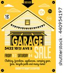 garage or yard sale with signs  ... | Shutterstock .eps vector #440954197