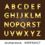 vector golden alphabet.golden... | Shutterstock .eps vector #440956417