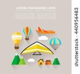 leisure paragliding layer | Shutterstock .eps vector #440956483