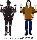 for animation. man character in ... | Shutterstock .eps vector #440997937
