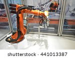 automatic robotic arm for  jobs ...   Shutterstock . vector #441013387