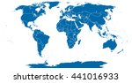 world political map outline.... | Shutterstock .eps vector #441016933