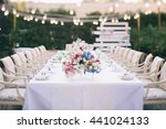wedding table that decorated... | Shutterstock . vector #441024133