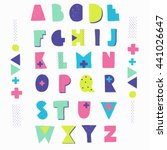 hand crafted alphabet.... | Shutterstock .eps vector #441026647