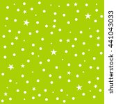 Star Polka Dot Green Backgroun...