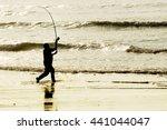 angler  fisherman in... | Shutterstock . vector #441044047