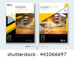 yellow brochure design.... | Shutterstock .eps vector #441066697