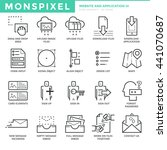 flat thin line icons set of ...