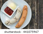 sausage stream with the tomato...   Shutterstock . vector #441075967