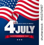 fourth of july independence day | Shutterstock .eps vector #441076987