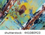 corroded white metal background.... | Shutterstock . vector #441080923