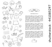 hand drawn doodle sport set... | Shutterstock .eps vector #441085297