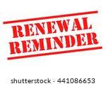 renewal reminder red rubber... | Shutterstock . vector #441086653