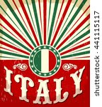 italy vintage old poster with... | Shutterstock .eps vector #441115117