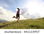 healthy young woman trail... | Shutterstock . vector #441115957