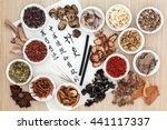 chinese herb ingredients ... | Shutterstock . vector #441117337