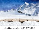 background of alps and table... | Shutterstock . vector #441120307