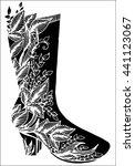 black and white raster high... | Shutterstock .eps vector #441123067