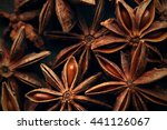 Anise Star Seeds On The Wooden...