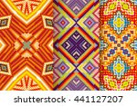 set of 3 abstract patterns.... | Shutterstock .eps vector #441127207