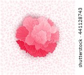 pink burgeon blossom of... | Shutterstock .eps vector #441128743