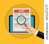 concept of job searching. hand... | Shutterstock . vector #441157177