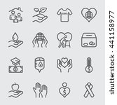 charity and donation line icon 2 | Shutterstock .eps vector #441158977
