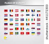 flags of europe | Shutterstock .eps vector #441172303