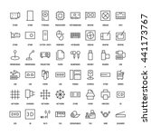 computers simple icons set.... | Shutterstock .eps vector #441173767