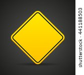 blank yellow road sign on a... | Shutterstock .eps vector #441188503