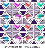triangle geo pattern design  ... | Shutterstock .eps vector #441188833