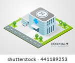 isometric hospital  vector... | Shutterstock .eps vector #441189253