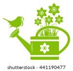 vector daffodils in watering... | Shutterstock .eps vector #441190477